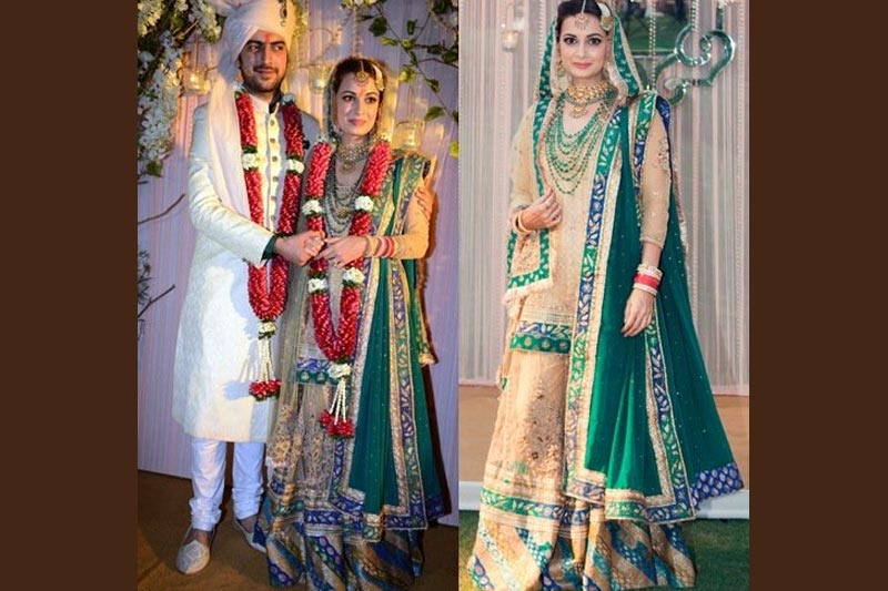 Dia Mirza's Golden Green Gharara