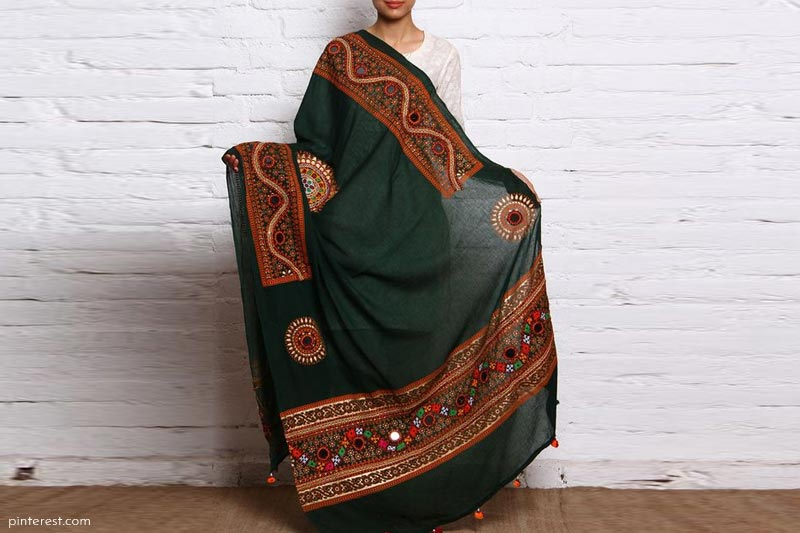 Heavily embroidered or embellish dupatta