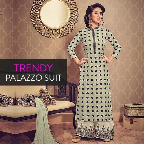 Trendy Palazzo Suits