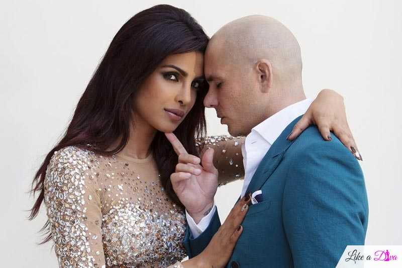 Priyanka Chopara with Pitbull
