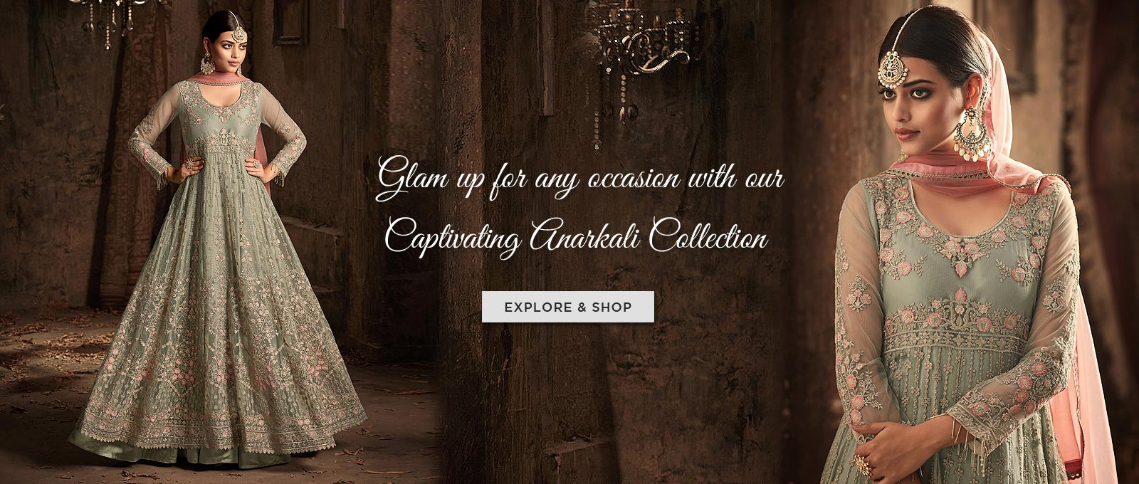 Glamp up for any occasion with our anarkali collecton
