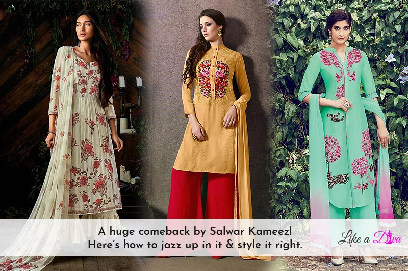 A Huge Comeback By Salwar Kameez! Here's How To Jazz Up In It & Style It Right