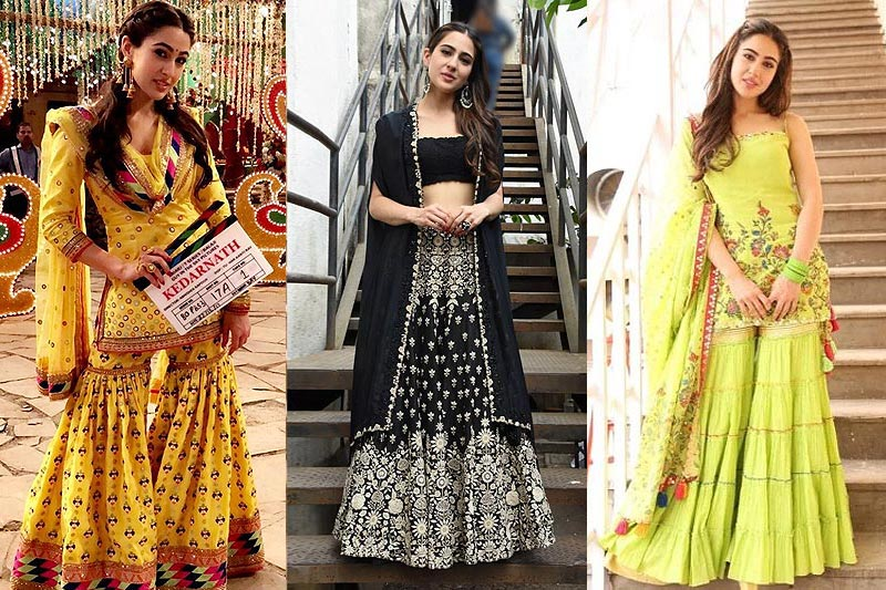 2102061d8 How To Dazzle In Indian Ethnic Dresses Like Sara Ali Khan