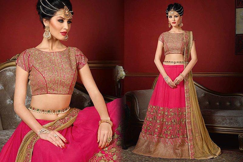 Royal Pink Designer Lehenga - Likeadiva