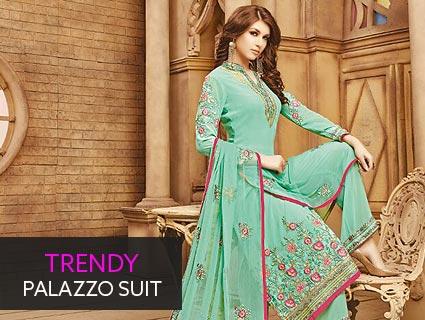 Trendy Palazzo Suit