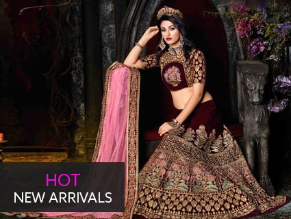 anarkalis and lehenga style suits