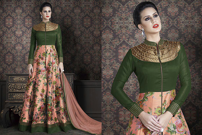 Floral anarkali suits - like a diva