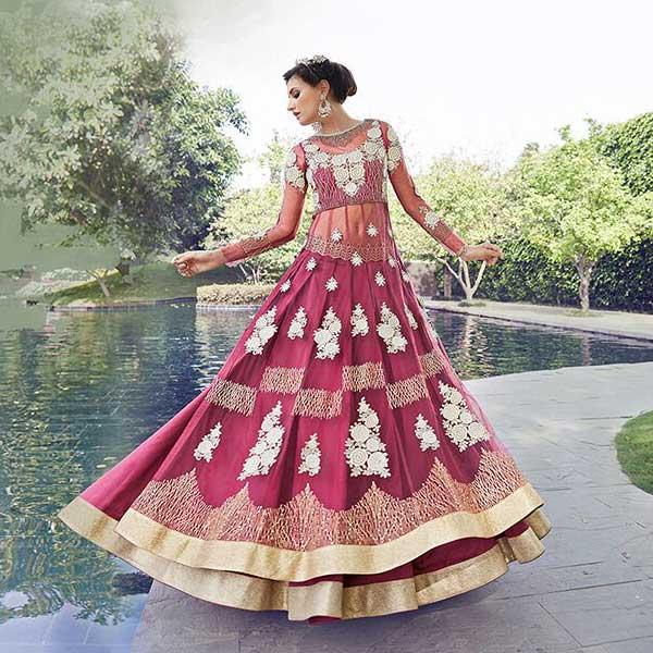 Pure Net Embroidery Anarkali Suits - likeadiva