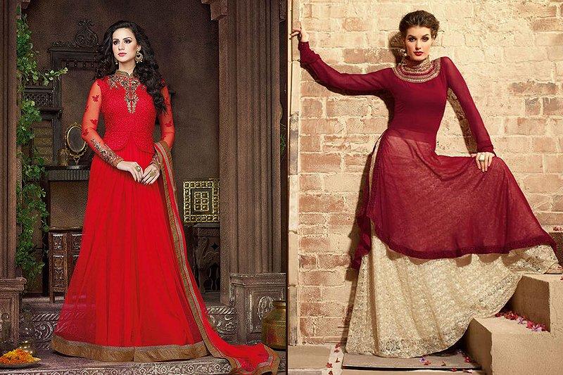 Georgette Heavy Embroidery Designer Anarkali Suits - likeadiva