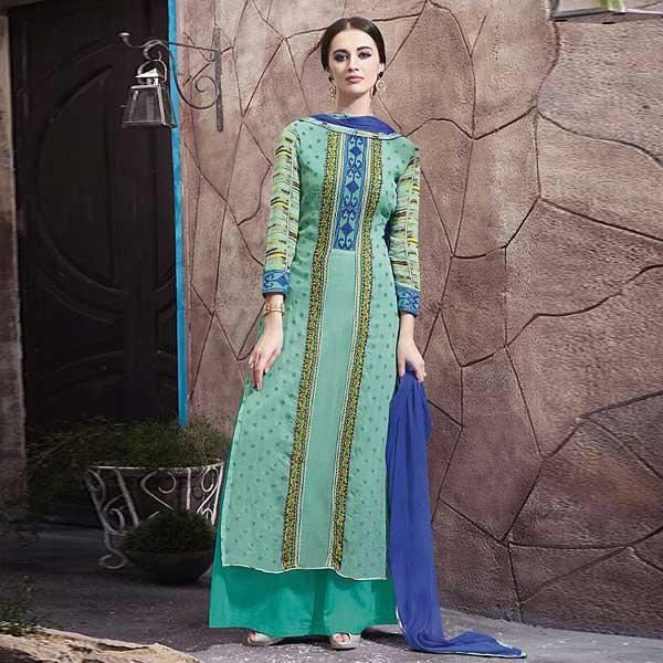 Casual Wear Digital Printed Plazzo Suit - likeadiva
