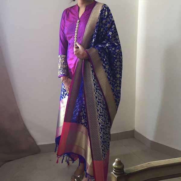 A Banarasi silk dupatta