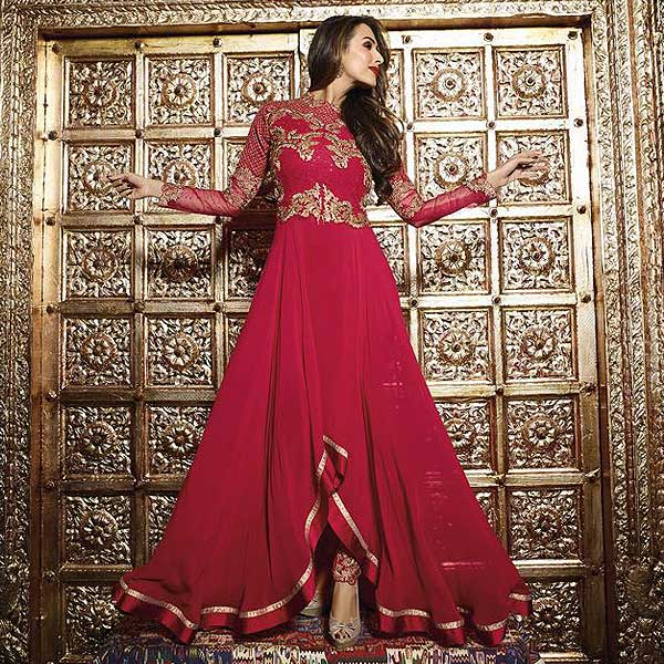 Malaika Arora Khan Heavy Embroidery Anarkali Suits - likeadiva