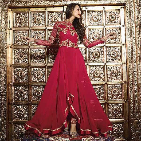 Malaika Arora Khan Heavy Embroidery Anarkali Suits - likeadiva