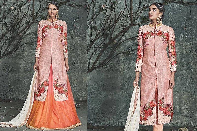 Silk Indo Western Dress - like a diva