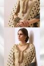 Designer Chanderi Pant Style Salwar Kameez With Banaras Silk Polka Dots Dupatta