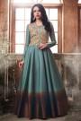 Like A Diva Designer Anarkali Suit With Sequins Embroidery Jacket