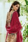 Beige Printed Pure Georgette Straight Cut Salwar Suit