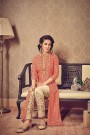 Designer Salwar Kameez Suit In Heart Print Art Silk Fabric