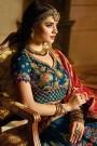 Deep Cyan Silk Jacquard Lehenga Choli with Jacquard Dupatta