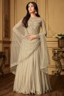 Beautiful Ivory Floor Length Anarkali Suit with Embroidery
