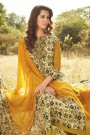 Smart & Chic Mustard & Green Coloured Printed Cotton Lawn Suit