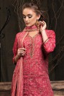 Ruby Pink Palazzo Suit in Digital Print Katha Silk with Gota Patti Work