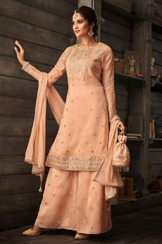 Stunning Palazzo suit in Peach and Gotta