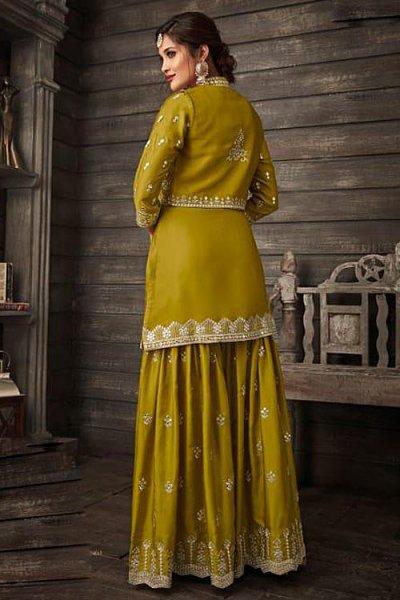 Just Gorgeous Dark Mustard Suit in Silk