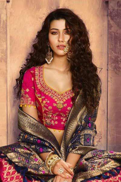 Ravishing Hot Pink Lehenga in Pure Jacquard Silk