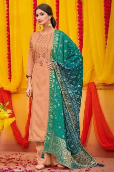 Gorgeous Cotton Silk Palazzo Suit with Dola Silk Bandhani Dupatta