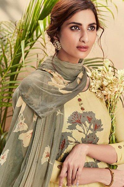 Ready to Wear Cotton Silk Salwar Kameez With Beautiful Chiffon Dupatta