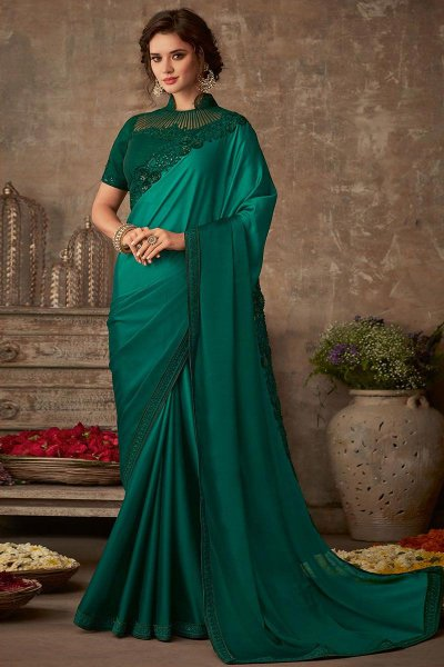 Green Designer Silk Saree