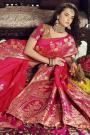 Pink Banarasi Silk Saree with Zari Embroidered Blouse