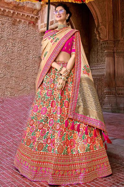 Banarasi Silk Party Wear Lehenga Choli Set