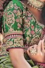 Green Banarasi Silk Saree with Embroidered Blouse