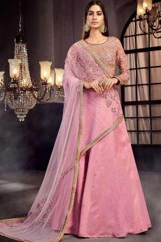 Embellished Blush Pink Lehenga Set