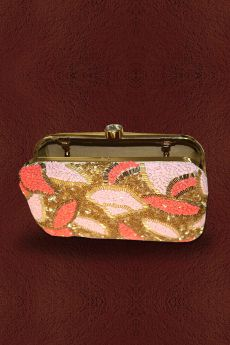 Multicolored Zardozi Hand Embellished Clutch