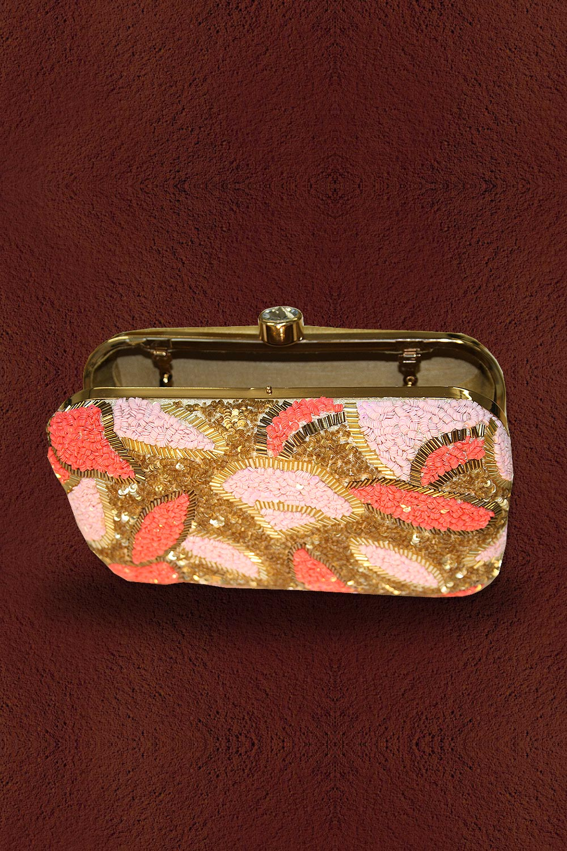 Multicolored Zardozi Embellished Clutch