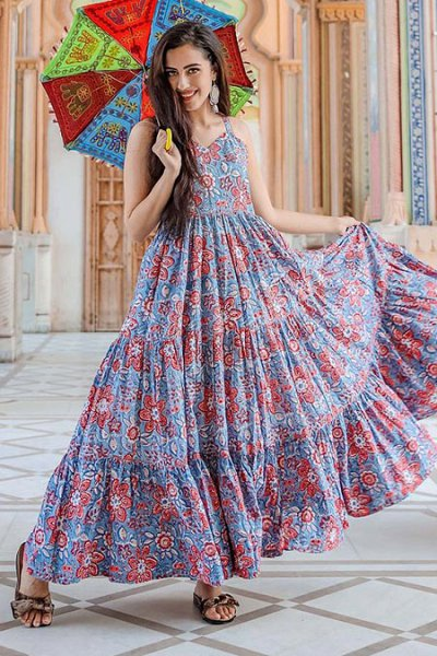 Multicolored Summer Indian Dress