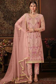 Trending Pink Suit with Embellishment