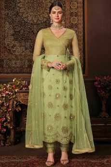 Trending Green Suit with Embellishment