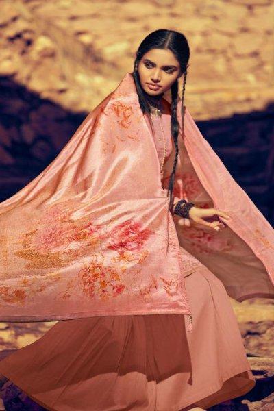 Pearl Pink Indian Designer Sharara Suit