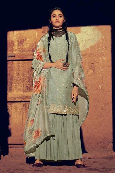 Ice Grey Stylish Indian Ethnic Wear