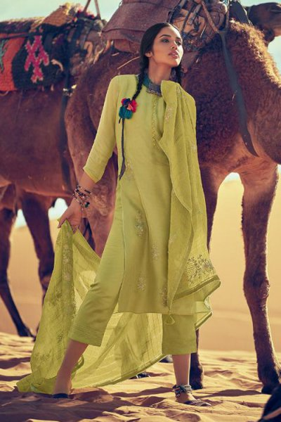 Beautiful Green Silk Salwar Kameez