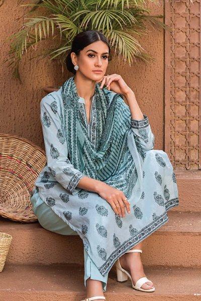 Ready to Wear Smart Grey Cotton Salwar Kameez