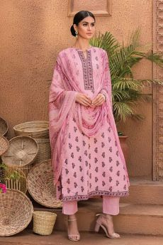 Ready to Wear Pink Smart Casual Cotton Palazzo Suit