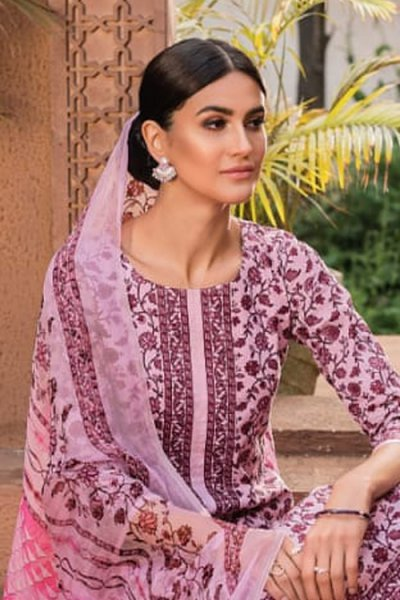 Ready to Wear Dusky Pink Smart Palazzo Suit in Glace Cotton