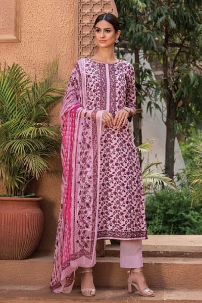 Dusky Pink Smart Palazzo Suit in Glace Cotton