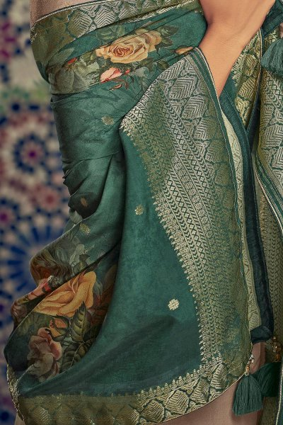 Ready to Wear Taupe Palazzo Suit in Silk