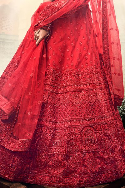 Beautiful Red Wedding Lehenga